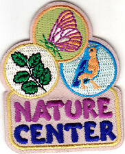"""NATURE CENTER""  Iron On Embroidered Patch Birds Animals Insects"
