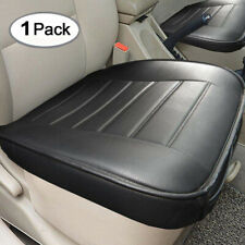 1x Universal Black PU Leather Car Front Seat Cover Protector Cushion For Seasons