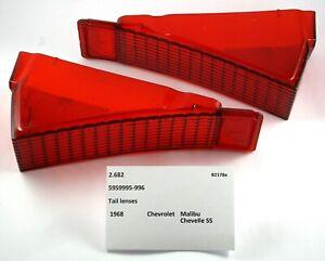 1968 Chevrolet Malibu Chevelle SS NOS tail lenses 5959995-996