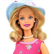1999 Vestido De Té Floral Barbie tiempo de té sombrero azul