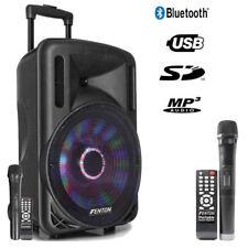 "Mobile Akku Box Sound Anlage ""FT12LED"" Funkmikrofon, LED, SD USB MP3, Bluetooth!"