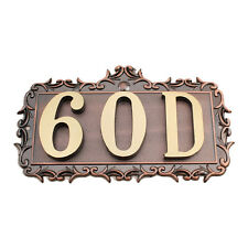 House Home Apartment Door Number Letter Address Plaque Metal Copper Custom