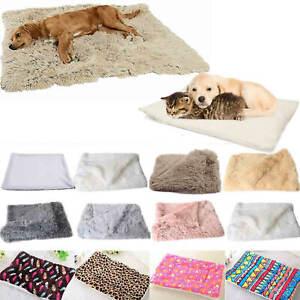 Dog Cat Pet Fleece Soft Bed Mat Pillow Mattress Cushion Small Large Cozy Blanket