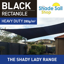 Rectangle Black 1.5m X 4 m Shade Sail Sun Heavy Duty 280GSM Outdoor Black 1.5X4M