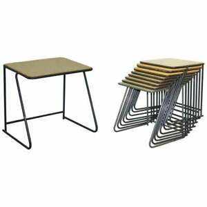 1 OF 20 BRITISH MILITARY ARMY STACKING DESK TABLES FULL SIZED STAINLESS STEEL