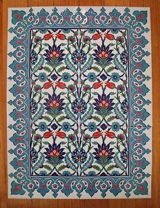 Iznik Design Turkish Tile Panel Set,20 piece Wall Feature - Splashback - Combo 7