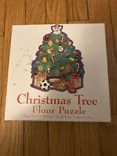 Christmas Tree Floor Puzzle 25 Pieces For Kids Vintage