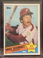 1985 TOPPS ALL STAR #714 MIKE SCHMIDT HOF PHILADELPHIA PHILLIES
