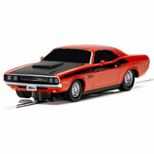 SCALEXTRIC Slot Car Dodge Challenger Red & Black