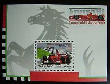 2001 Italia FERRARI  Campione del Mondo 2000   5000 lire  MNh**