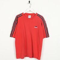 Vintage ADIDAS Small Logo T Shirt Tee Red | Medium M