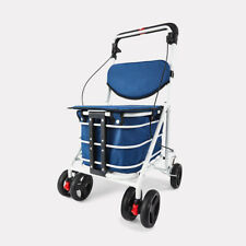 Foldable Shopping Cart with Seat - Camping trolley Folding Grocery Basket