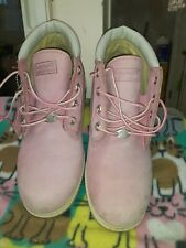 all $ go to pet refuge cat shelter Timberland Women's Pink Ankle Boots Size 9M