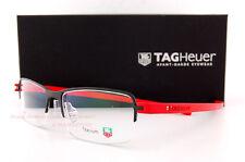 Brand New TAG Heuer Eyeglass Frames REFLEX 3 3923 002  Black/Red Men Women