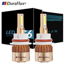 DURAFLUX 9007 HB5 LED Headlight Hi/Low Dual Beam Bulbs Kit 1080W 162000LM 6000K