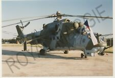 Colour print of Czech Air Force Mil Mi 24V 0839 at RAF Fairford in 1997