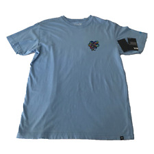 Hurley T Shirt Mens Size Large light blue buchan morif NWT