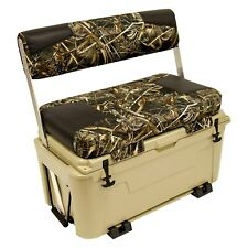 "Wise Ice Cage 105 Qt 38.25""H x 38.5""L x 19.75""D Max 5/Tan Swingback Cooler Seat"