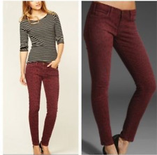 Current / Elliott Skinny Jeans Leg 28' Size 10 UK Red Animal Print Ankle RRP£250