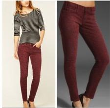 Current / Elliott Ankle Skinny Jeans Leg 28' Size 10 UK Animal Print Red RRP£250
