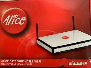 TIM,TELECOM ITALIA ALICE GATE VOIP VDSL2 WI-FI MODEM ETHERNET ROUTER