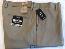 NWT DOCKERS MEN PANTS 38X34 Signature Khakis Flat Front Straight Fit Tan Beige