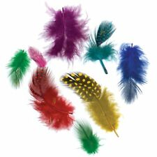 "Feathers Guinea Jewelry Craft Hair Extension 2-4"" Dyed Mix Lot of 85+"