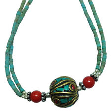 Turquoise Necklace - Handmade in Nepal - Fair Trade