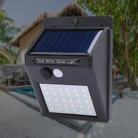30LED Luz de Pared Lámpara Reflector Foco con Sensor Movimiento Exterior