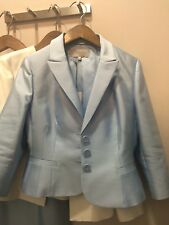 Hobbs Races Wedding Mother Of The Bride Or Crystal Blue Dress &Jacket Size 10