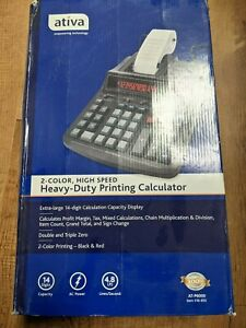 NEW ATIVA Desktop Printing Calculator AT-P6000 2 Color 14 digits