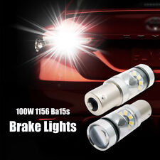 2x 100W 1156 BA15S P21W CREE XBD LED Canbus Ampoule signal inverse lumière blanc