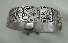 """7"""" 1"""" Wide Eagle Mk 3 Taxco Mexico Cet Sterling Bracelet Vintage 40'S"""