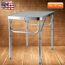 Portable Folding Table Indoor Outdoor Camping Picnic Utility Table Aluminum MA