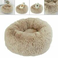 Pet Dog Cat Round Cushion Bed Warm Soft Plush Comfortable Nest Cozy for Sleeping