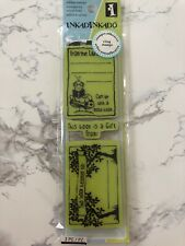 "Inkadinkado ""Bookplates"" Rubber Cling Stamps"