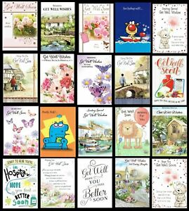 GET WELL SOON ~ QUALITY CARD ~ GREAT SELECTION TO CHOOSE FROM ~ L@@K