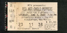 2000 Red Hot Chile Peppers Foo Fighters Concert Ticket Stub Californication Tour