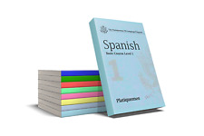 Platiquemos Spanish Complete Eight Books and 54 hours audio on USB Flash Drive