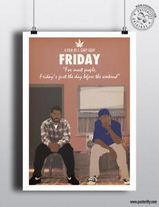 FRIDAY - Minimalist Movie Poster, Minimal Film Posteritty Art Print Ice Cube