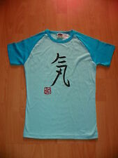 "Junior T-shirt m. Kaligraphie ""Ki ha nagaku"" 気は長く""GEDULD"" vom Meister gefertigt"