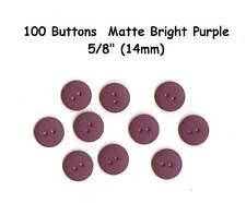 "100 Buttons Bright Purple 5/8"" Matte 2 hole- also Scrapbooking - 14mm"