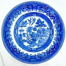 """Vintage Shenango China Blue Willow Saucer 6"""" Made in New Castle Pennsylvania USA"""