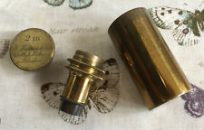 Antique 2 Inch Brass Microscope Objectve by W. Watson & Son (pre 1883)
