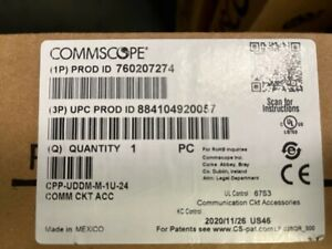 Commscope 760207274   CPP-UDDM-M-1U-24  24-Port Unloaded Patch Panel 1RU New In
