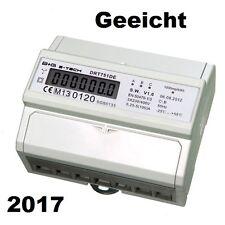 MID geeicht 2017 LCD Drehstromzähler Stromzähler S0 für Hutschiene 400V 5(100)A