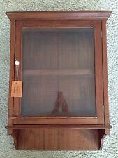 Hängeschrank - Vitrine / Glas Holz Teak / Indien Einzelstück / Antik um ca. 1950