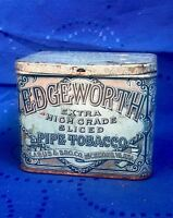 Vintage Blue Edgeworth Extra High Grade Sliced Pipe Tobacco Tin - Larus & Bro Co