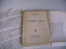 LES OMBRES VIERGES Marc Seguin lettres et dédicace auteur 1956