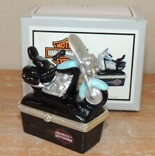 New Phb Midwest Cannon Falls Harley Softail Motorcycle Hinged Trinket Box Biker